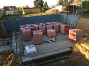 Vorarbeiten für Kellermauerwerk